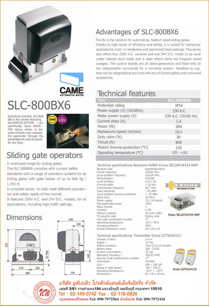 Came SLC-800 BX6